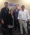 Carlos Gómez (Isla Negra), Dra. Lourdes Ramos (MAPR), Samuel Medina (Libros AC) y Alfredo Torres (La Tertulia)