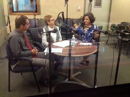 Juan Carlos López, Dra. Lourdes Ramos y Doris Rios