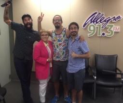 Mikephillipe Oliveros, Dra. Lourdes Ramos, Vicente (Chente) Ydrach y Esteban Ruiz