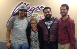 Francisco Rosado (Pirulo), Dra. Lourdes Ramos, Juan Pablo Díaz (JuanPi), Gabriel Beuchamp (Orquesta El Macabeo)