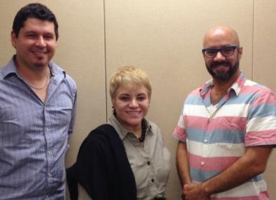 Ricardo Carrión, Dra. Lourdes Ramos y Finees Almenas