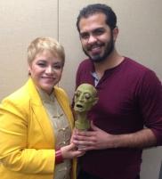 El artista Quique Rivera junto a la Dra. Lourdes Ramos