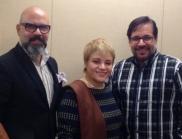 Orlando López, Dra. Ramos y Luis Santiago
