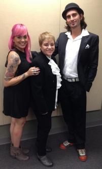 Natalia Ortiz, Dra. Lourdes Ramos y Arturo Gaskins