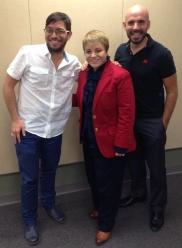 Ismanuel Rodríguez, Dra. Lourdes Ramos, Rafael Sánchez